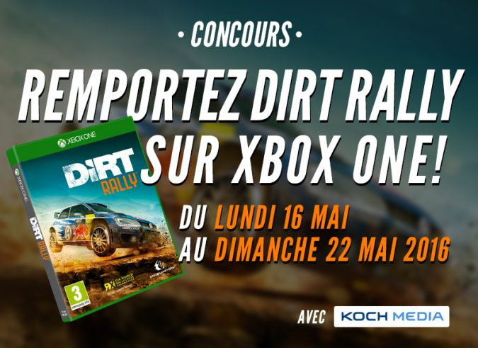 r sultats du concours dirt rally le mag jeux high tech. Black Bedroom Furniture Sets. Home Design Ideas