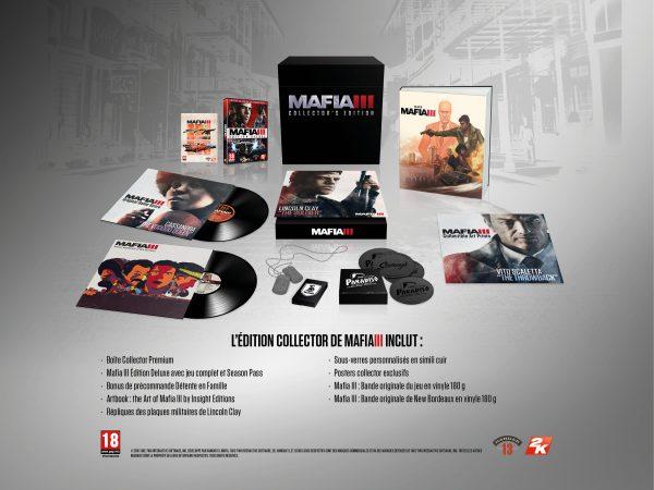 Mafia III, contenu du collector en précommande