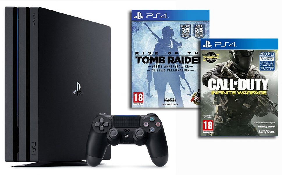 pack ps4 pro avec fifa 17 ou infinite warfare chez amazon le mag jeux high tech. Black Bedroom Furniture Sets. Home Design Ideas
