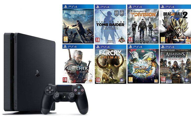Pack ps4 slim avec 8 jeux dont xenoverse 2 et ff 15 173 euros de r duction m j le mag - Jeux en ligne ps4 ...
