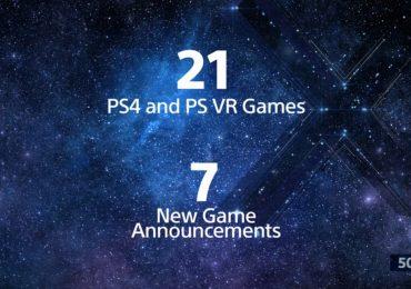Playstation PGW jeux PSVR