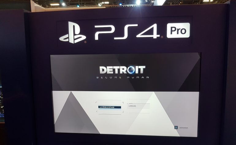 detroit become human notre avis sur la version ps4 pro pgw2017 le mag jeux high tech. Black Bedroom Furniture Sets. Home Design Ideas