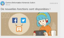 Le firmware de la Switch passe en 5.0