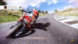TT Isle of Man 2 : image tirée du jeu d'une machine en plein virage