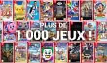 Le cap des 1000 jeux disponibles, pour la Switch