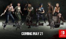 Les 3 jeux Resident Evil datés sur Switch