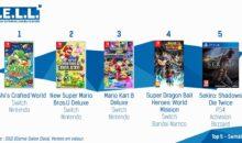 Quadruplé Switch en France (meilleures ventes jeux vidéo)