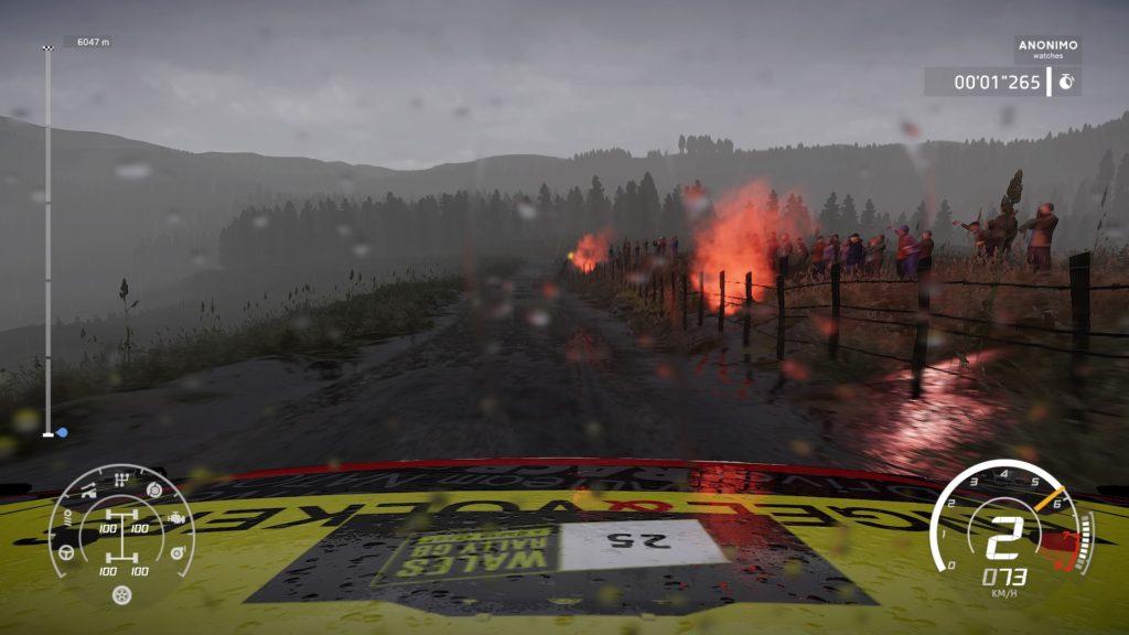 WRC 8 course sous la pluie