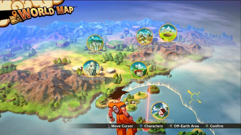 Dragon Ball Z Kakarot carte du monde