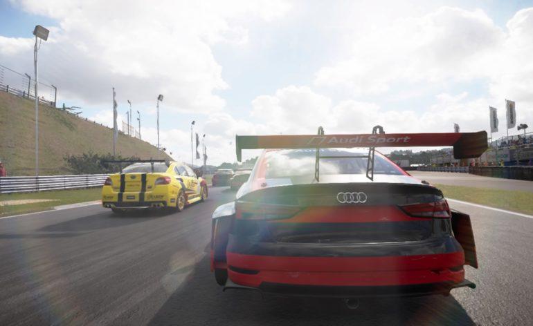 Grid PS4: l'arrière d'une Audi TCR