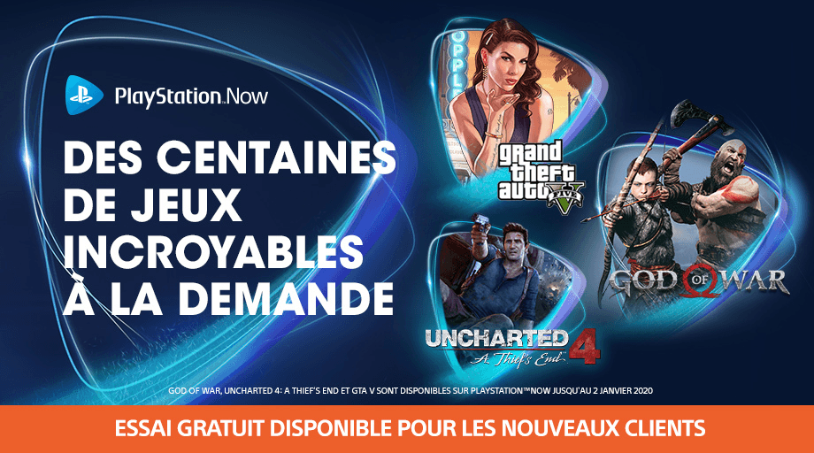 gta 5 god of war et uncharted 4 sur ps now now le. Black Bedroom Furniture Sets. Home Design Ideas