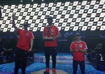 Le podium de la Nations Cup Gran Turismo 2019