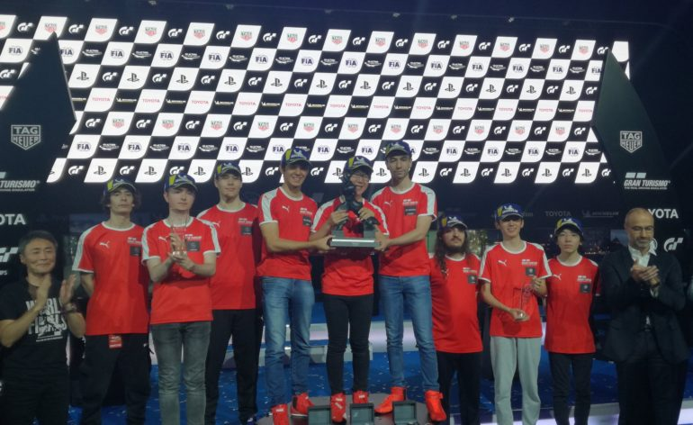 Le podium de la Manufacturer Series Gran Turismo 2019