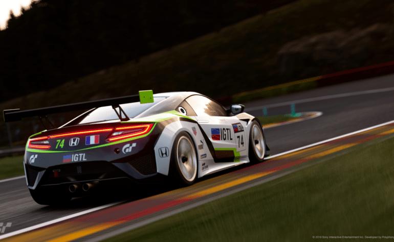 La Honda NSX officielle de l'IGTL de Spa-Francorchamps