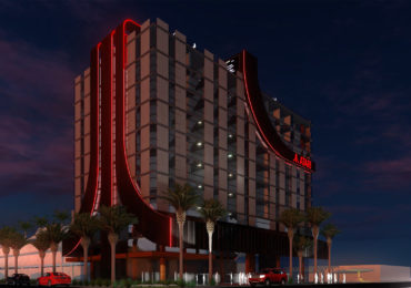 Atari : image de synthèse d'un concept d'hôtel