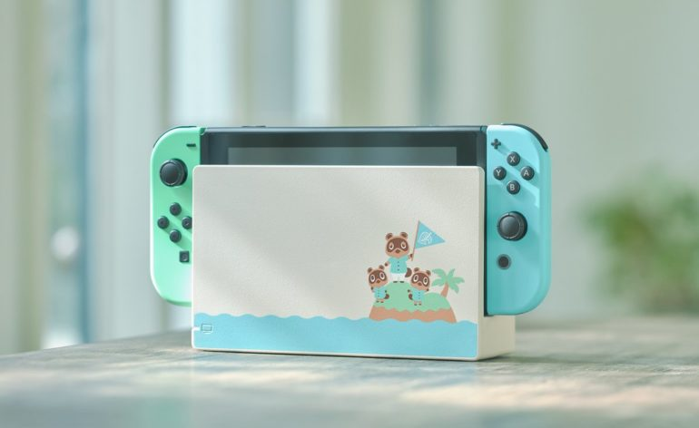 Nintendo Switch : la base de la console édition Animals Crossing