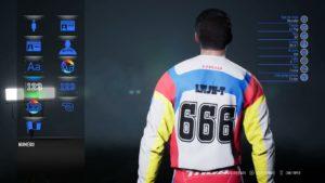 Supercross 3 : les options de personnalisation du pilote dans le jeu