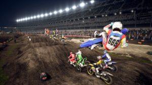 Supercross 3 : un whip lors d'une course