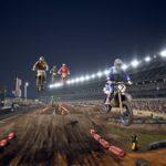 Supercross 3 : des motos lors d'un saut