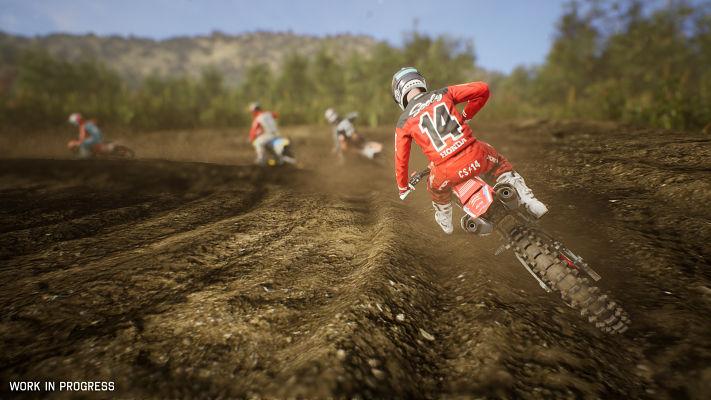 Supercross 3 : image d'une moto vue de derrière tirée de l'opus précédent