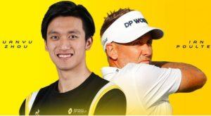 Guanyu Zhou et Ian Poulter sur l'affiche de l'équipe Renault