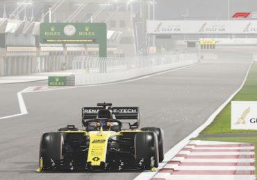 Formule 1 : image tirée du jeu F1 2019 d'une Renault sur le circuit de Bahreïn