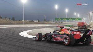 Formule 1 : image tirée du jeu d'une Red Bull sur le circuit de Bahreïn