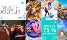 Switch : des promos (-75%) sur les jeux multi tels Donkey, Kirby, DBZ