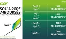 Bon plan : jusqu'à -200 euros sur les PC et Notebooks Acer