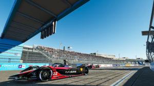 Formule E : La voiture virtuelle d'Oliver Rowland à New-York