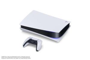La sony Playstation 5 (ps5) vue de dessus