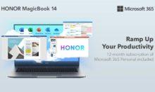 Un pack HONOR MagicBook 14 + Microsoft 365 Personal