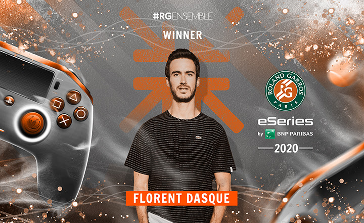 Florent Dasque remporte roland garros esport