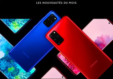 Samsung : Affiche les nouveautés du mois des S20