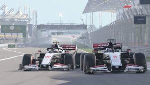 F1 2020 : Une presque-collision entre notre monoplace et celle de Romain Grosjean