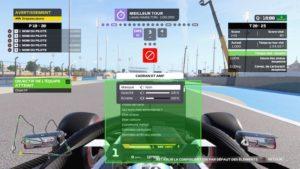 F1 2020 : L'écran de personnalisation du jeu