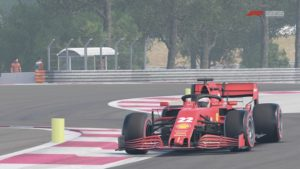 Une Ferrari au Paul-Ricard