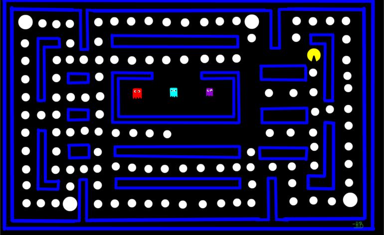 Pac-Man : Un niveau