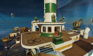 Rocket Arena : Image tirée de la map créée dans un bateau
