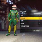 Project Cars 3 : Menu de personnalisation du pilote dans le jeu
