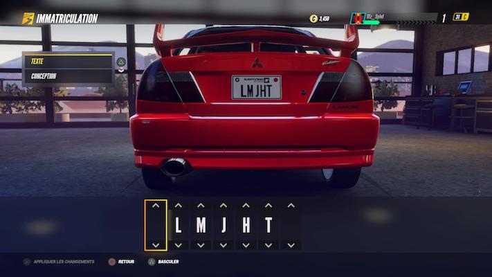 Project Cars 3 : Menu de personnalisation de sa voiture