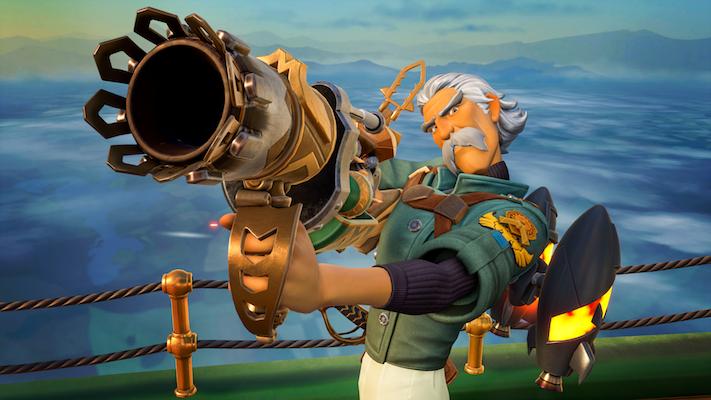 Rocket Arena : Un personnage tenant son lance-roquettes