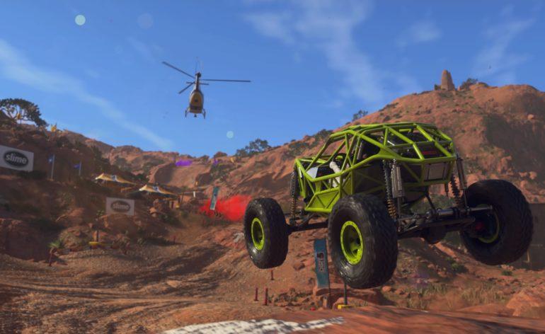 DiRT 5 : Un véhicule en plein saut