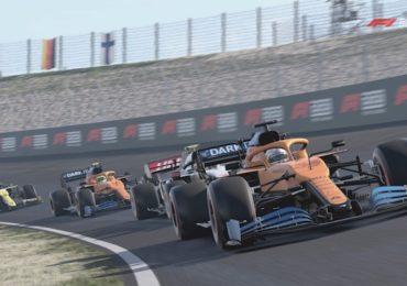 F1 Esports : Une McLaren dans le banking du dernier virage à Zandvoort dans F1 2020