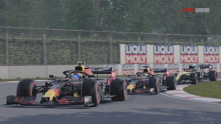F1 Esports : Deux Red Bull devant une Renault au Canada dans le jeu F1 2020