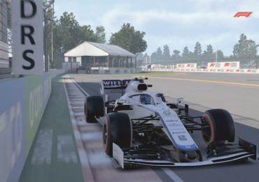 F1 Esports : Une voiture frôlant le mur du dernier virage au Canada dans F1 2020