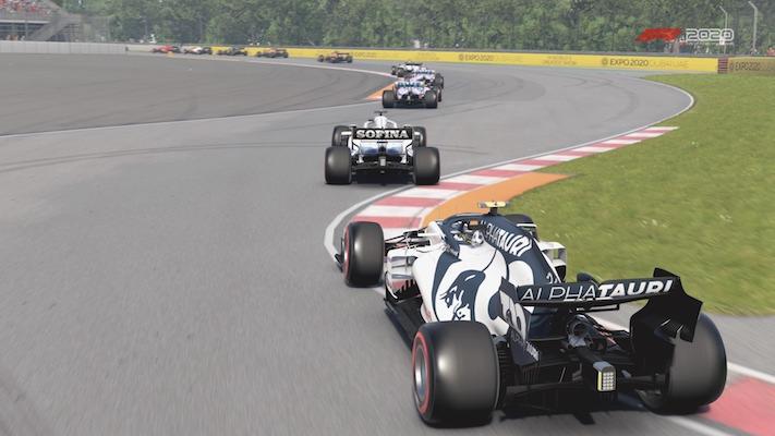 F1 Esports : Une AlphaTauri sur le circuit du Canada dans F1 2020