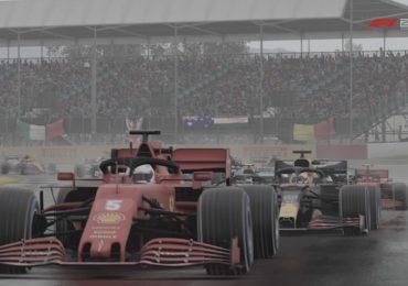 F1 Esports : Une Ferrari devant une Red Bull à Silverstone dans le jeu F1 2020