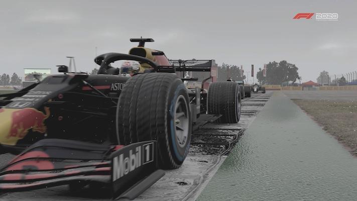 F1 Esports : Une Red Bull sous la pluie à Silverstone dans le jeu vidéo F1 2020