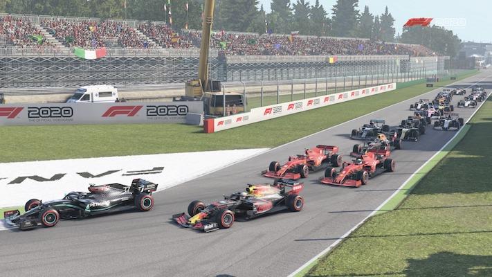 F1 Esports : Départ à Monza dans le jeu F1 2020